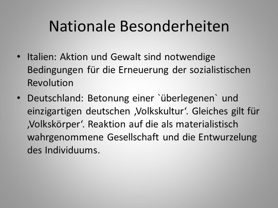Nationale Besonderheiten