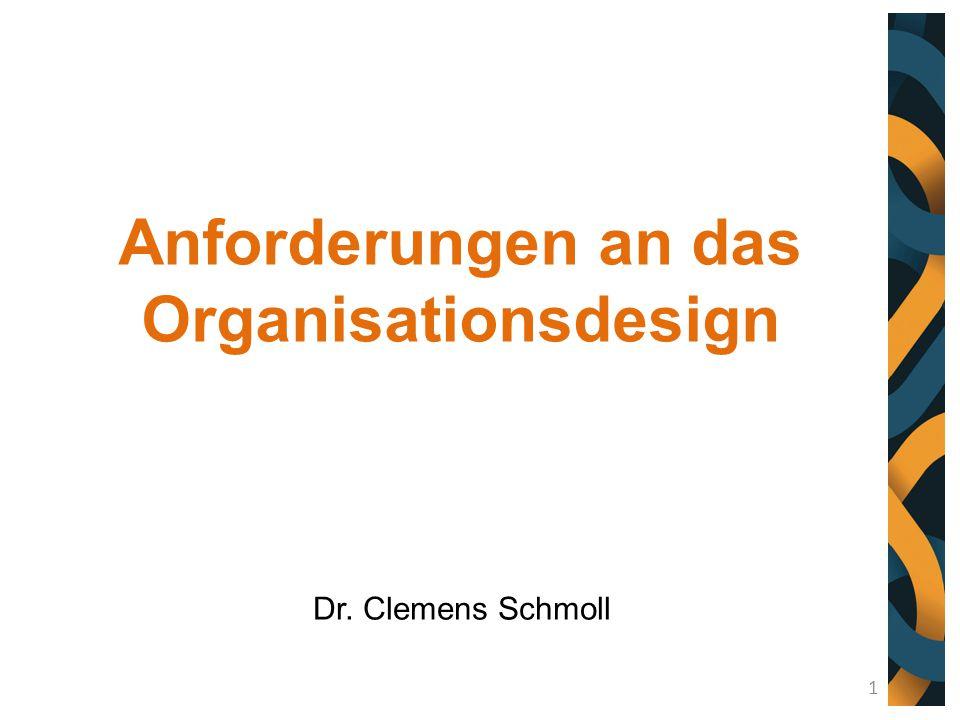 Anforderungen an das Organisationsdesign