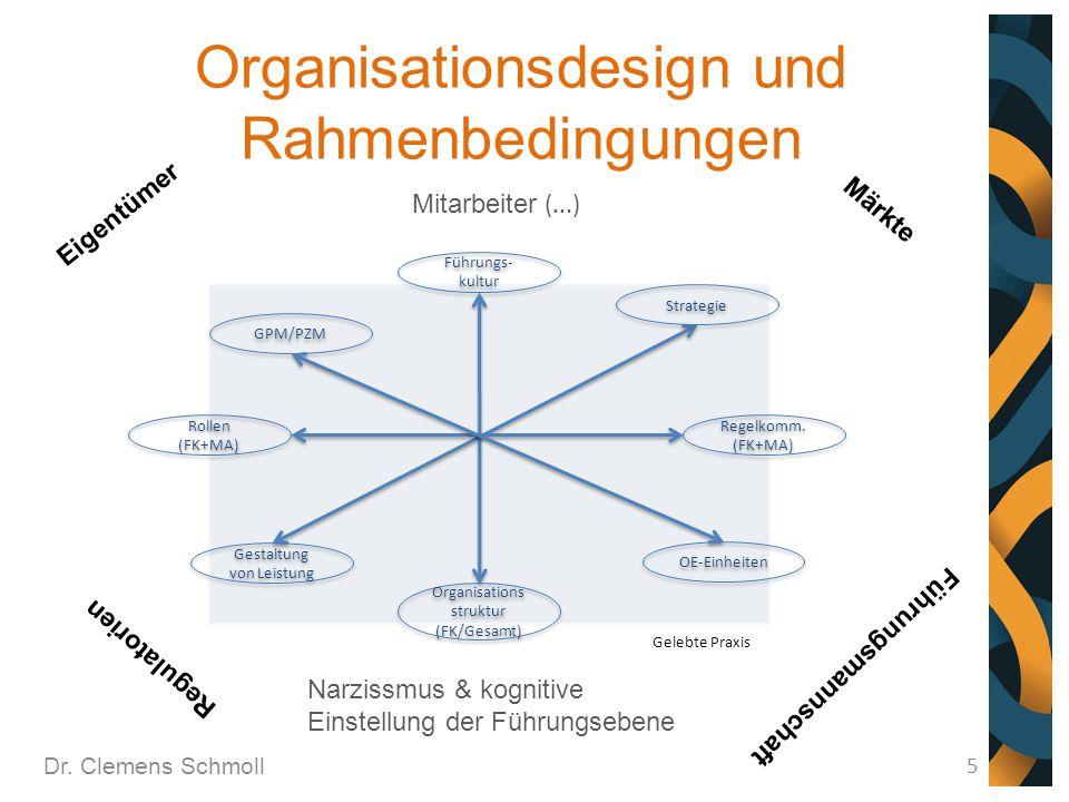 Organisationsdesign und Rahmenbedingungen