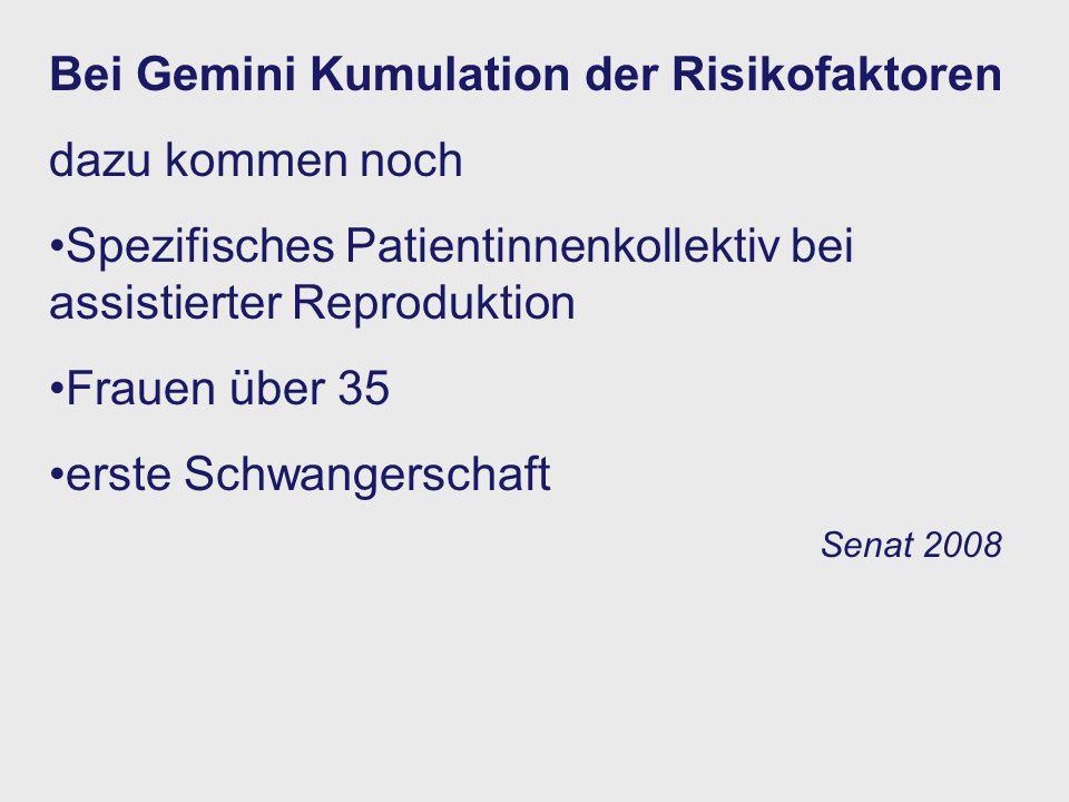 Bei Gemini Kumulation der Risikofaktoren