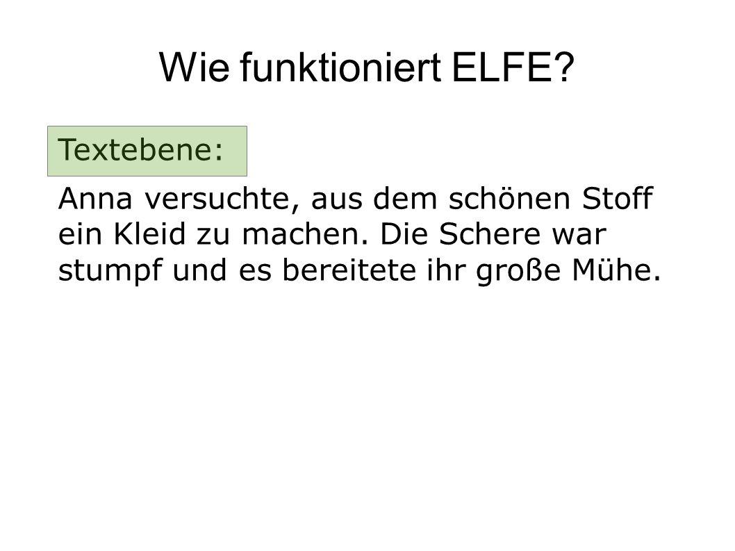 Wie funktioniert ELFE Textebene: