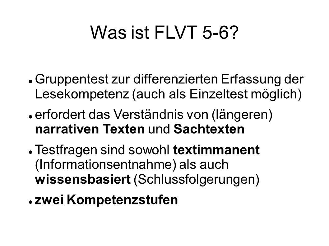 Was ist FLVT 5-6 Gruppentest zur differenzierten Erfassung der Lesekompetenz (auch als Einzeltest möglich)