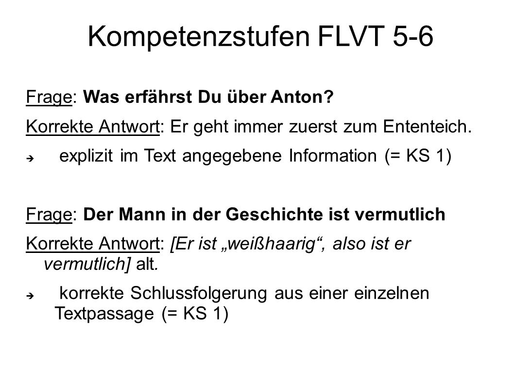 Kompetenzstufen FLVT 5-6