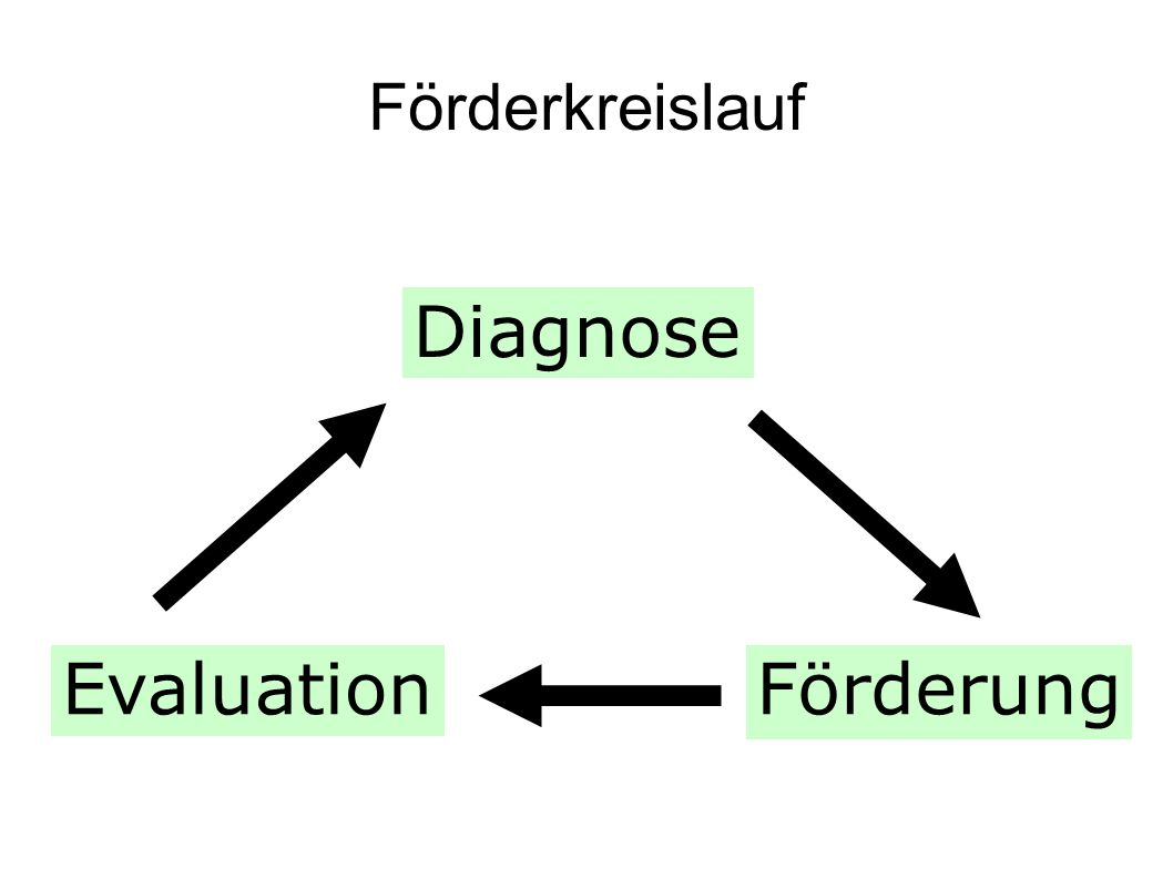 Förderkreislauf Diagnose Evaluation Förderung