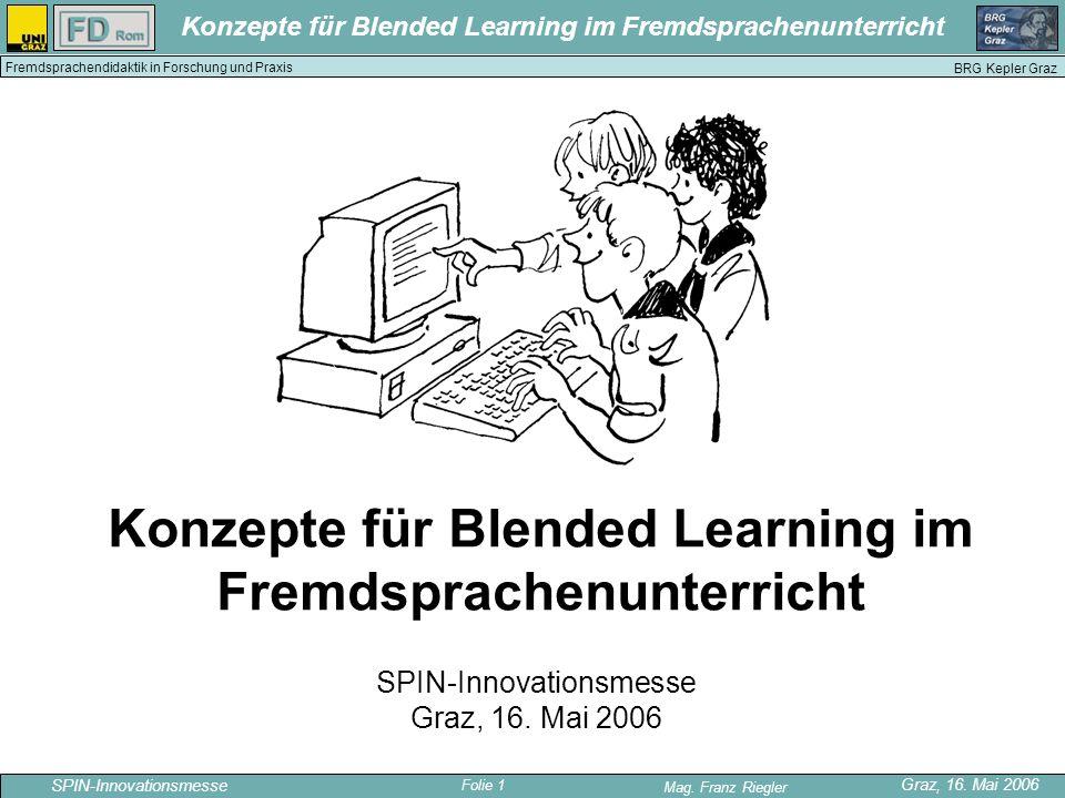 Konzepte für Blended Learning im Fremdsprachenunterricht