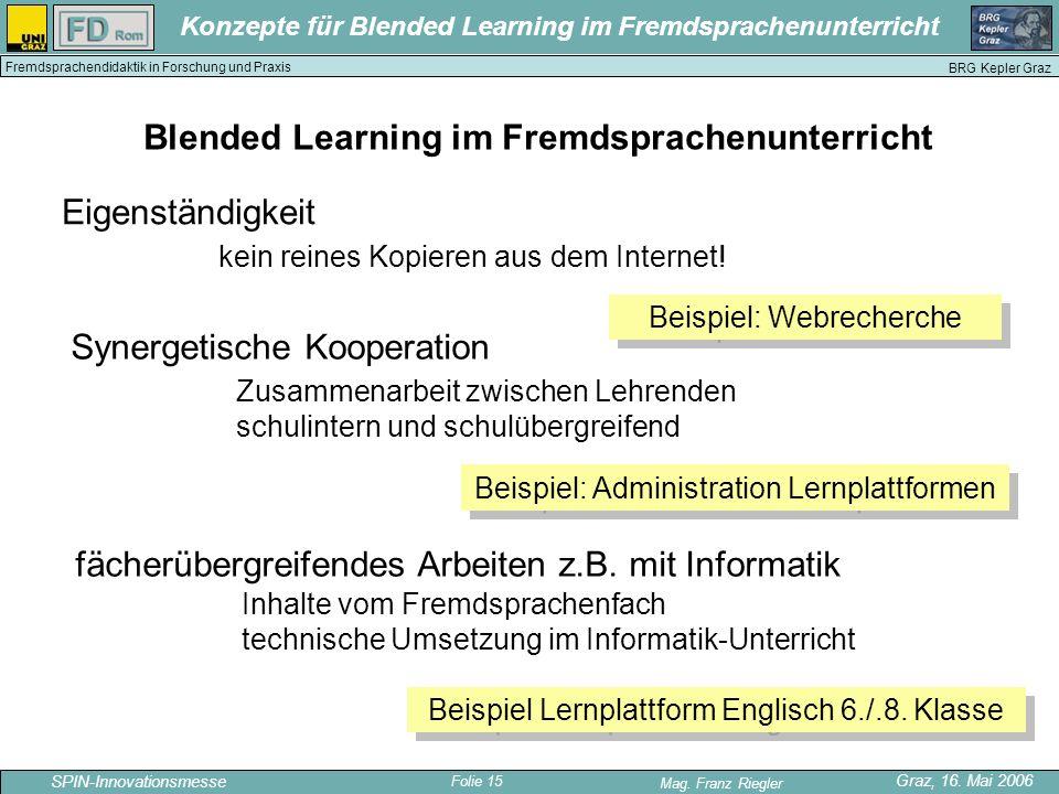Blended Learning im Fremdsprachenunterricht