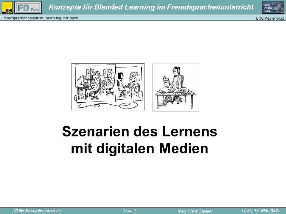 Szenarien des Lernens mit digitalen Medien