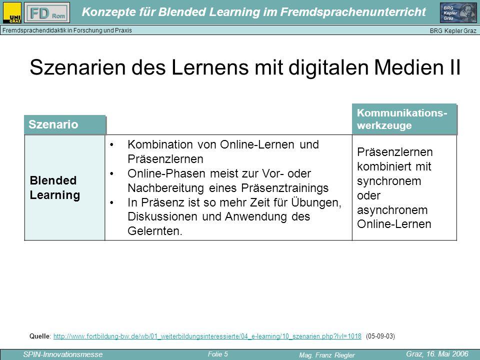 Szenarien des Lernens mit digitalen Medien II