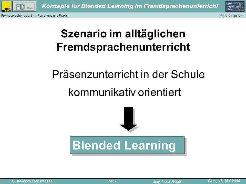 Szenario im alltäglichen Fremdsprachenunterricht