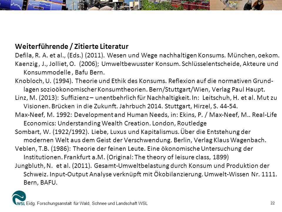 Weiterführende / Zitierte Literatur