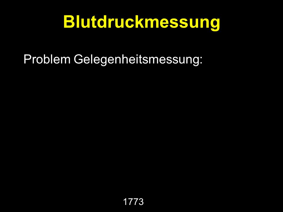 Problem Gelegenheitsmessung: