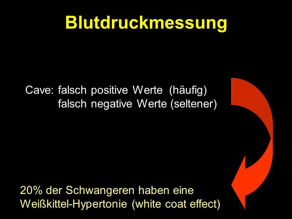 Blutdruckmessung falsch negative Werte (seltener)