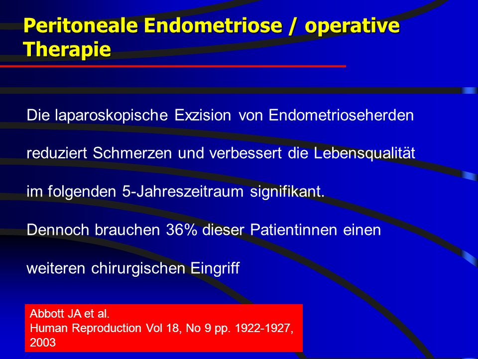 Peritoneale Endometriose / operative Therapie