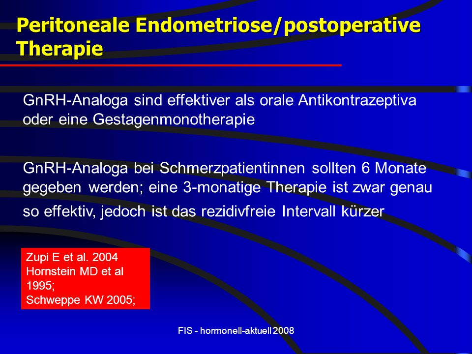Peritoneale Endometriose/postoperative Therapie