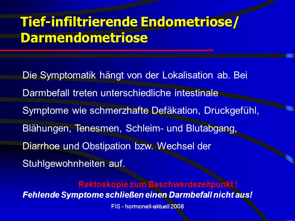 Tief-infiltrierende Endometriose/ Darmendometriose