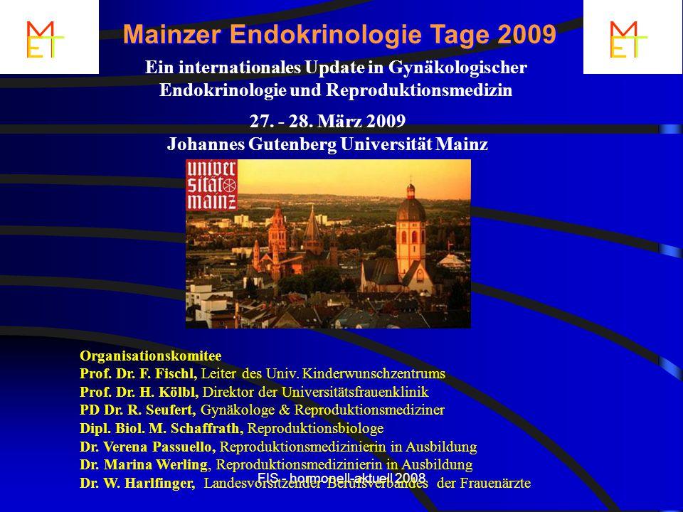 Mainzer Endokrinologie Tage 2009 Johannes Gutenberg Universität Mainz