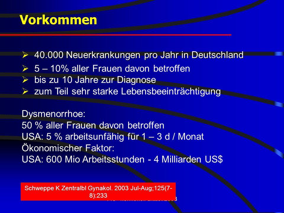 Vorkommen  40.000 Neuerkrankungen pro Jahr in Deutschland