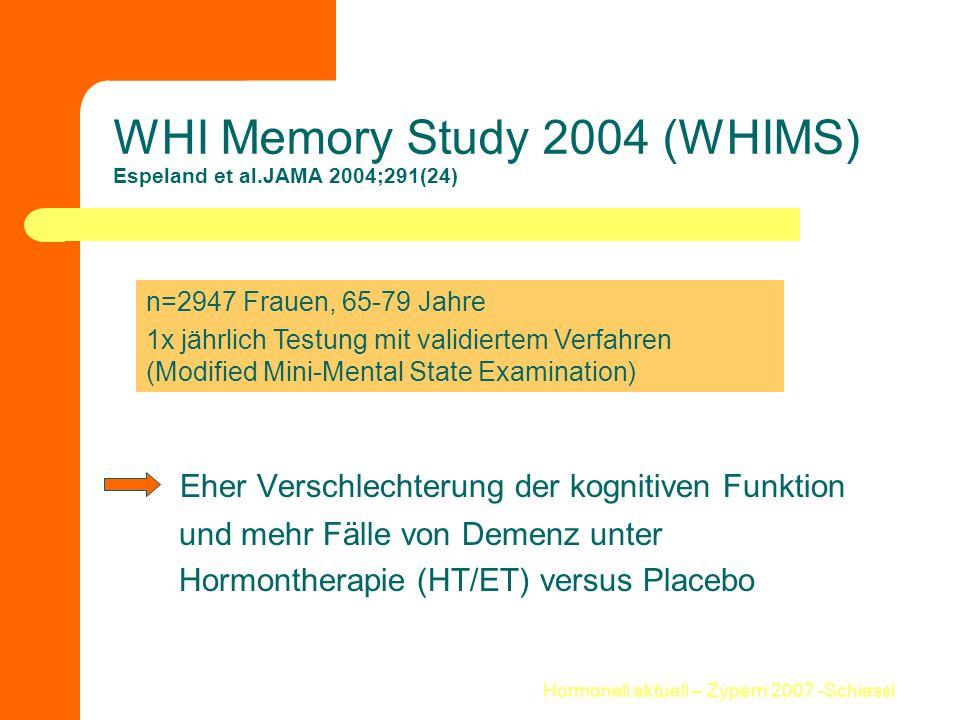 WHI Memory Study 2004 (WHIMS) Espeland et al.JAMA 2004;291(24)