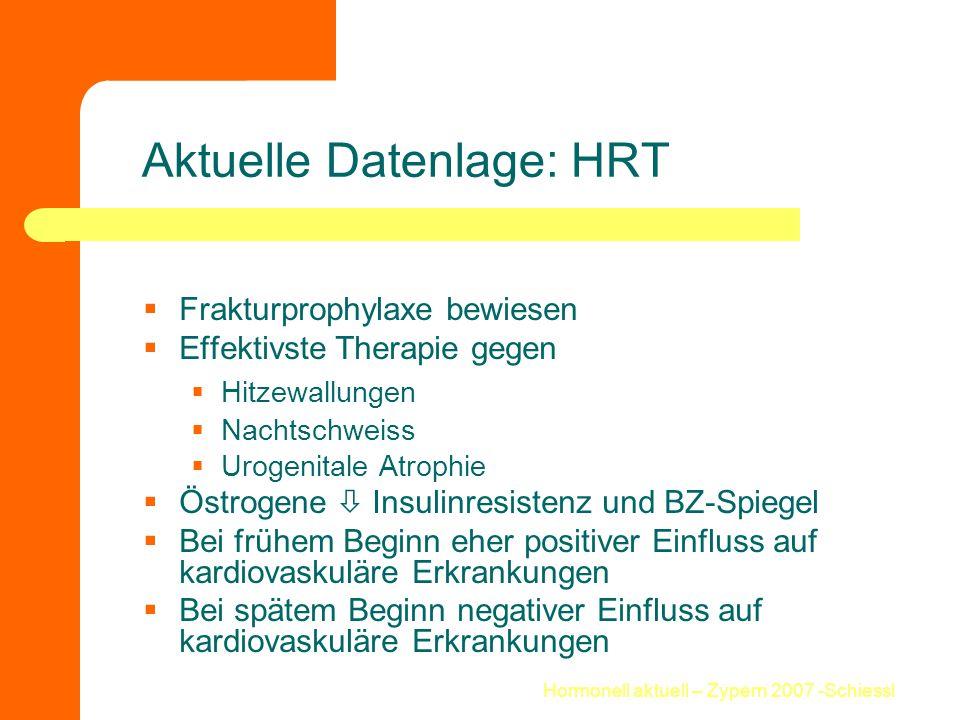 Aktuelle Datenlage: HRT