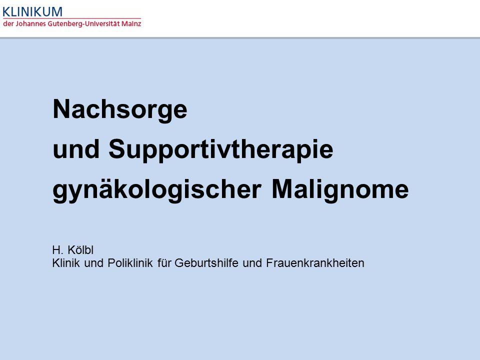 Nachsorge und Supportivtherapie gynäkologischer Malignome