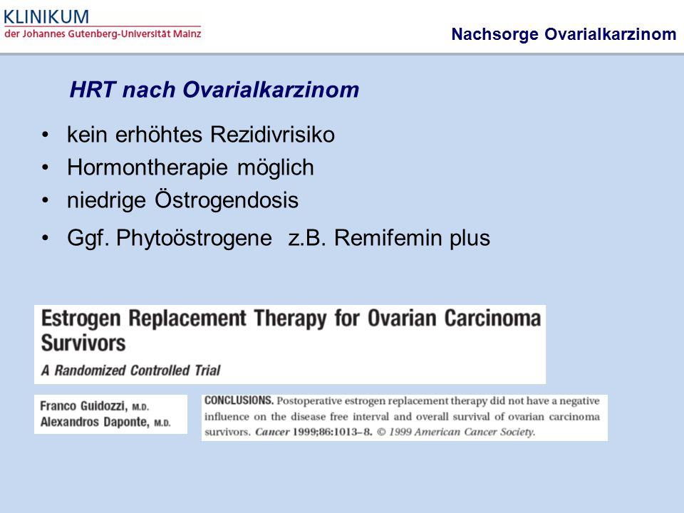 HRT nach Ovarialkarzinom