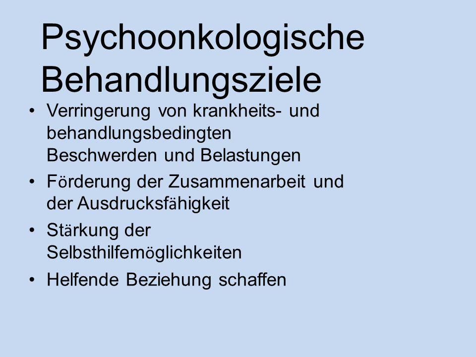 Psychoonkologische Behandlungsziele