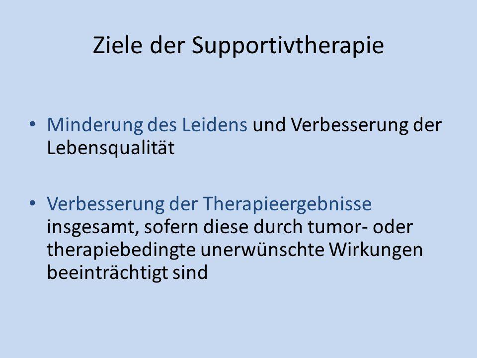 Ziele der Supportivtherapie