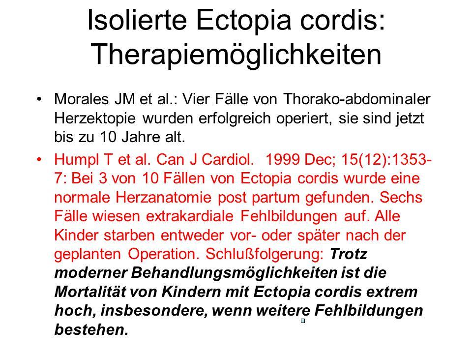 Isolierte Ectopia cordis: Therapiemöglichkeiten