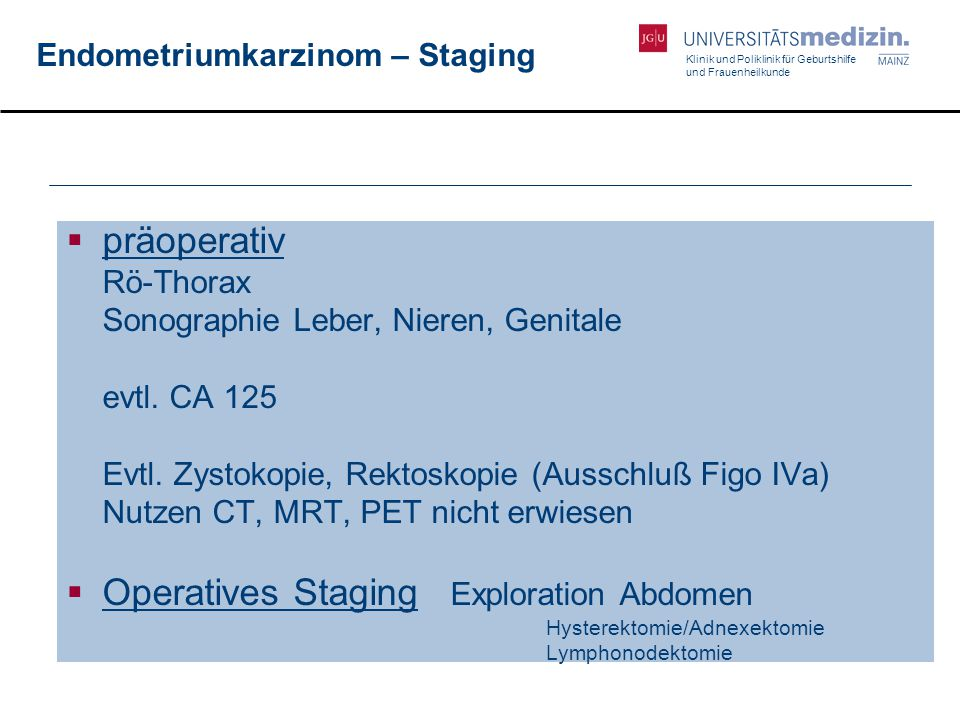 Endometriumkarzinom – Staging