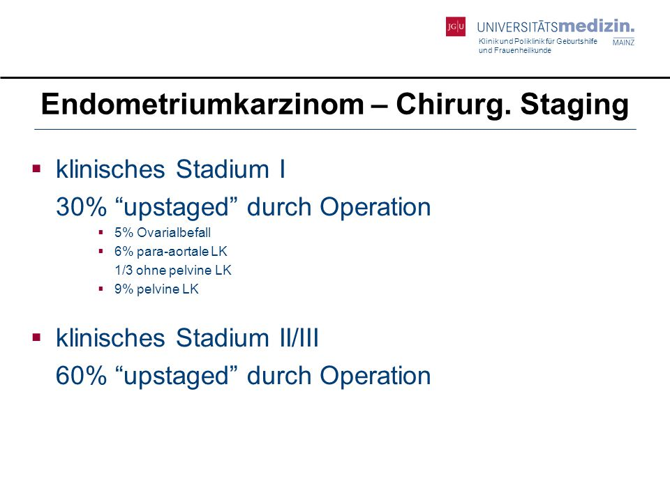 Endometriumkarzinom – Chirurg. Staging