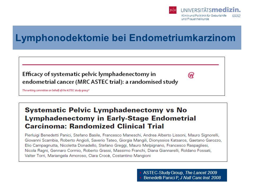 Lymphonodektomie bei Endometriumkarzinom