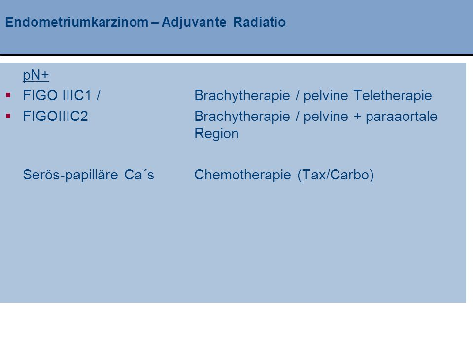 Endometriumkarzinom – Adjuvante Radiatio