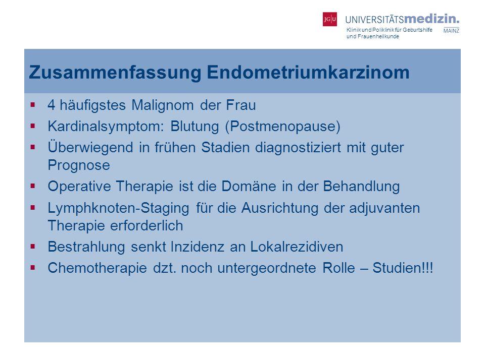 Zusammenfassung Endometriumkarzinom
