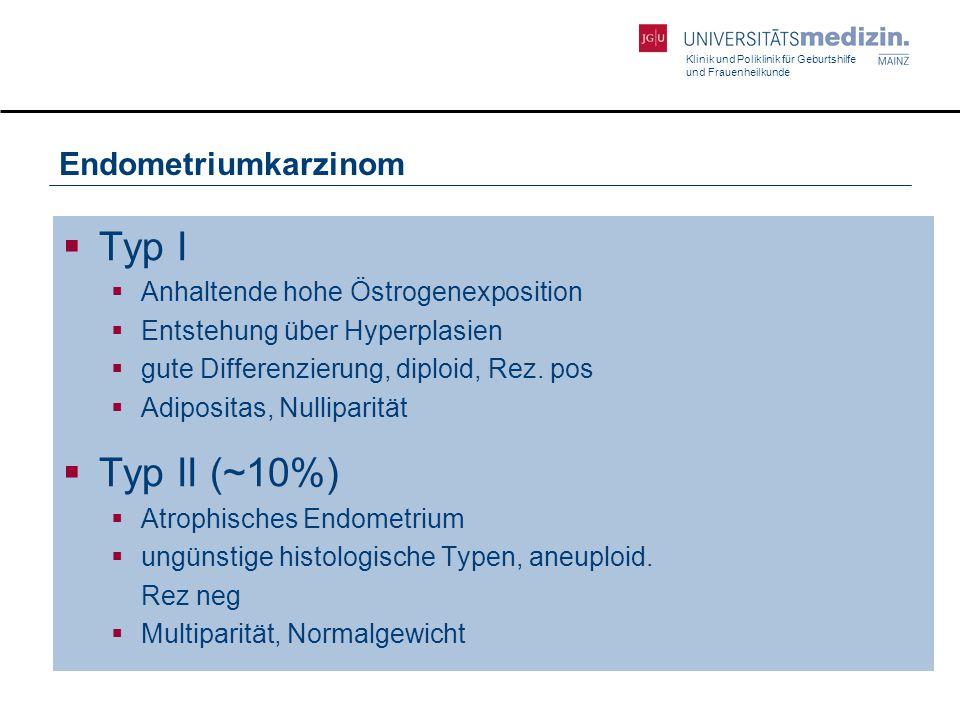 Typ I Typ II (~10%) Endometriumkarzinom
