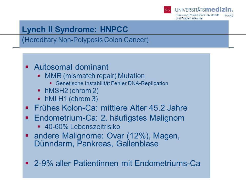 Lynch II Syndrome: HNPCC (Hereditary Non-Polyposis Colon Cancer)