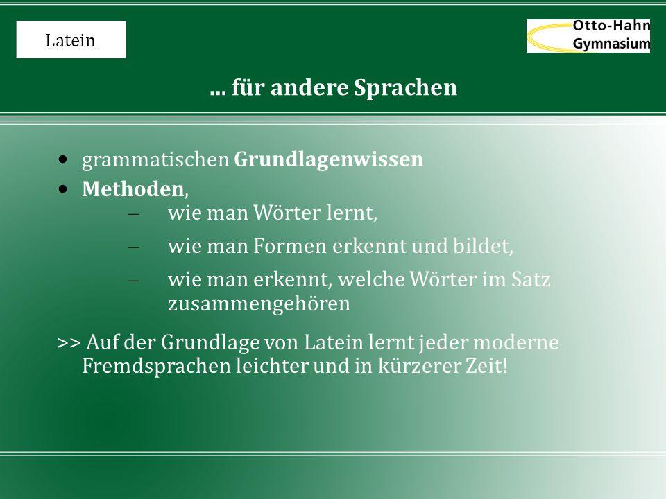 … für andere Sprachen grammatischen Grundlagenwissen Methoden,