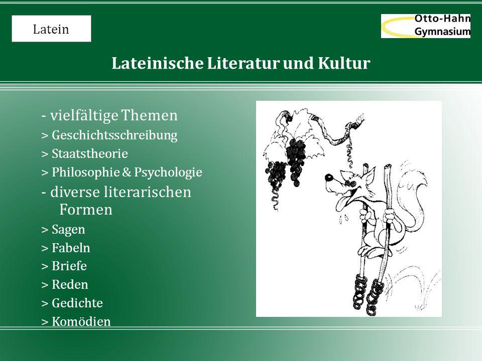 Lateinische Literatur und Kultur