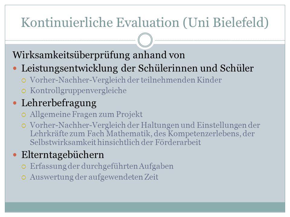 Kontinuierliche Evaluation (Uni Bielefeld)