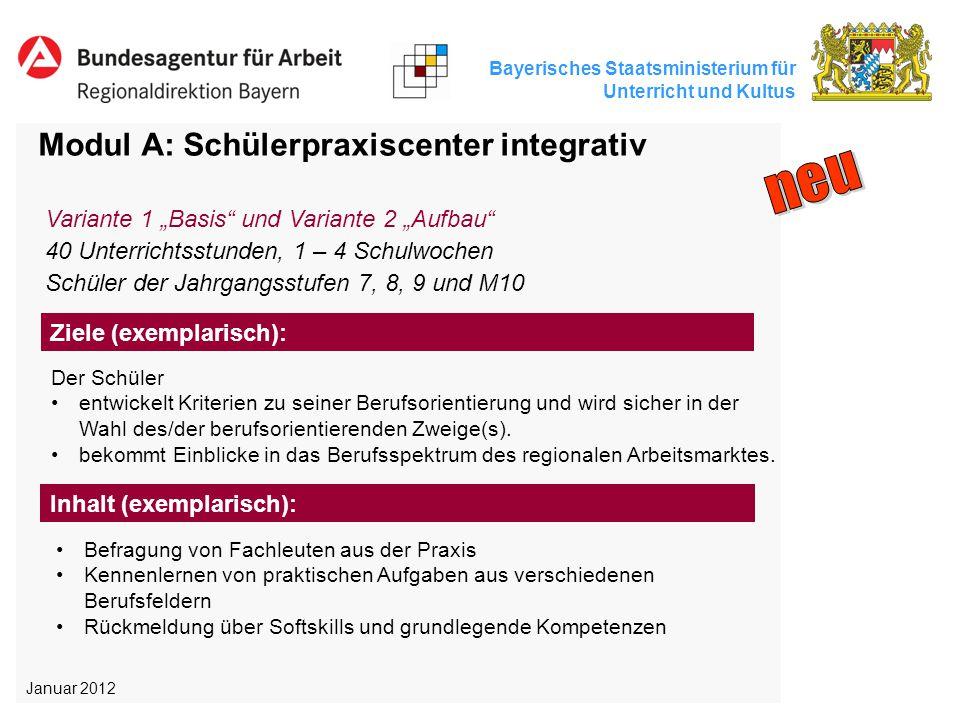 neu Modul A: Schülerpraxiscenter integrativ