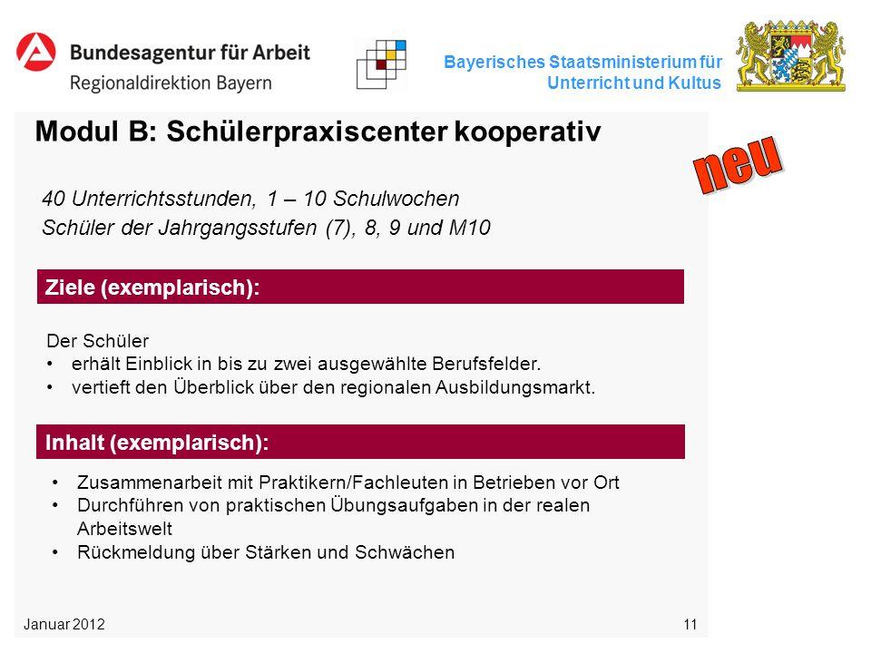 neu Modul B: Schülerpraxiscenter kooperativ