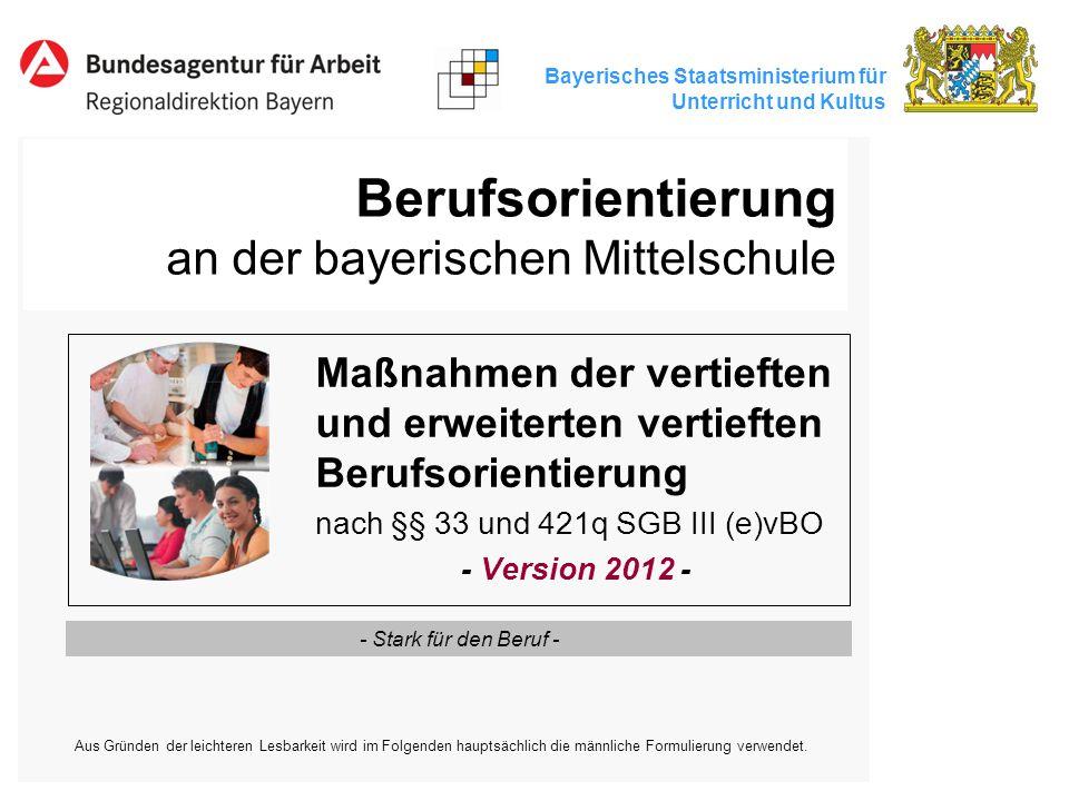 Berufsorientierung an der bayerischen Mittelschule