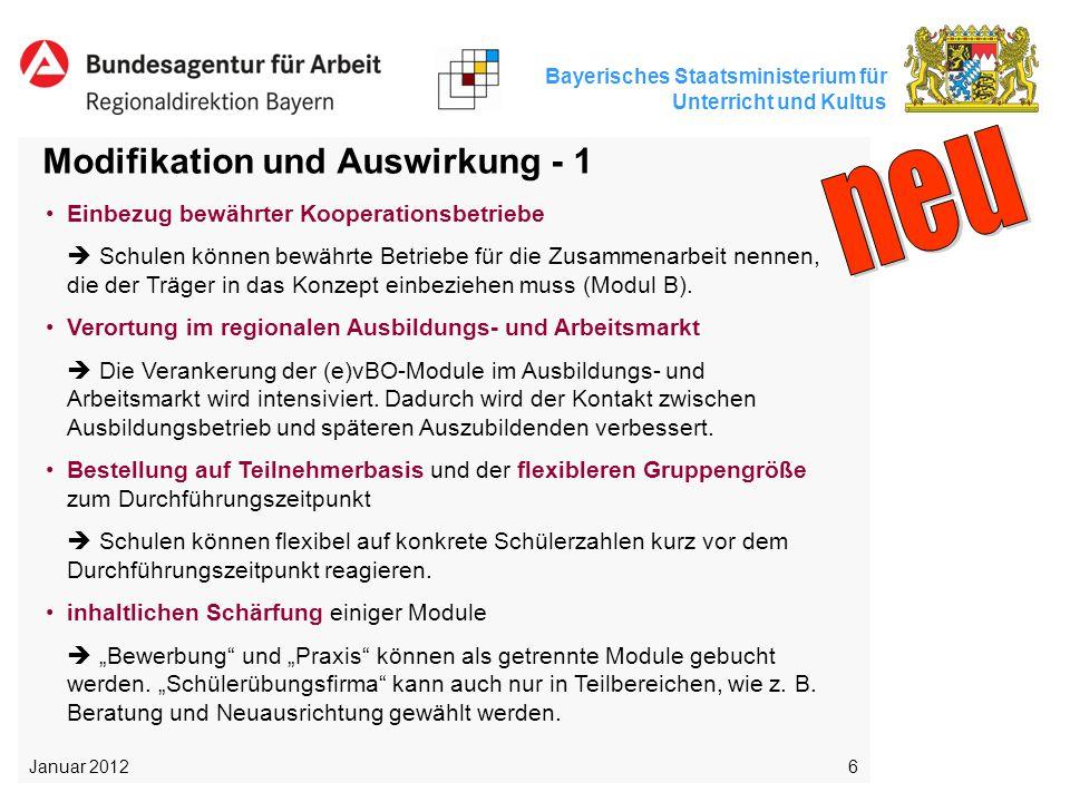 neu Modifikation und Auswirkung - 1