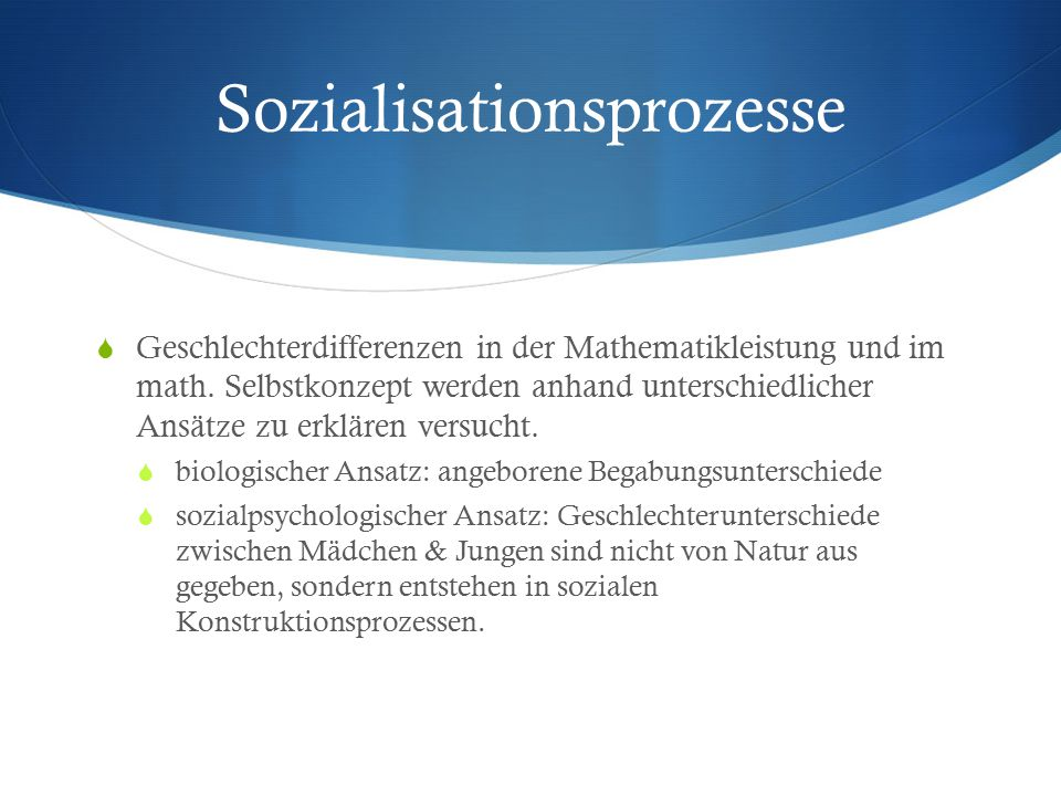 Sozialisationsprozesse