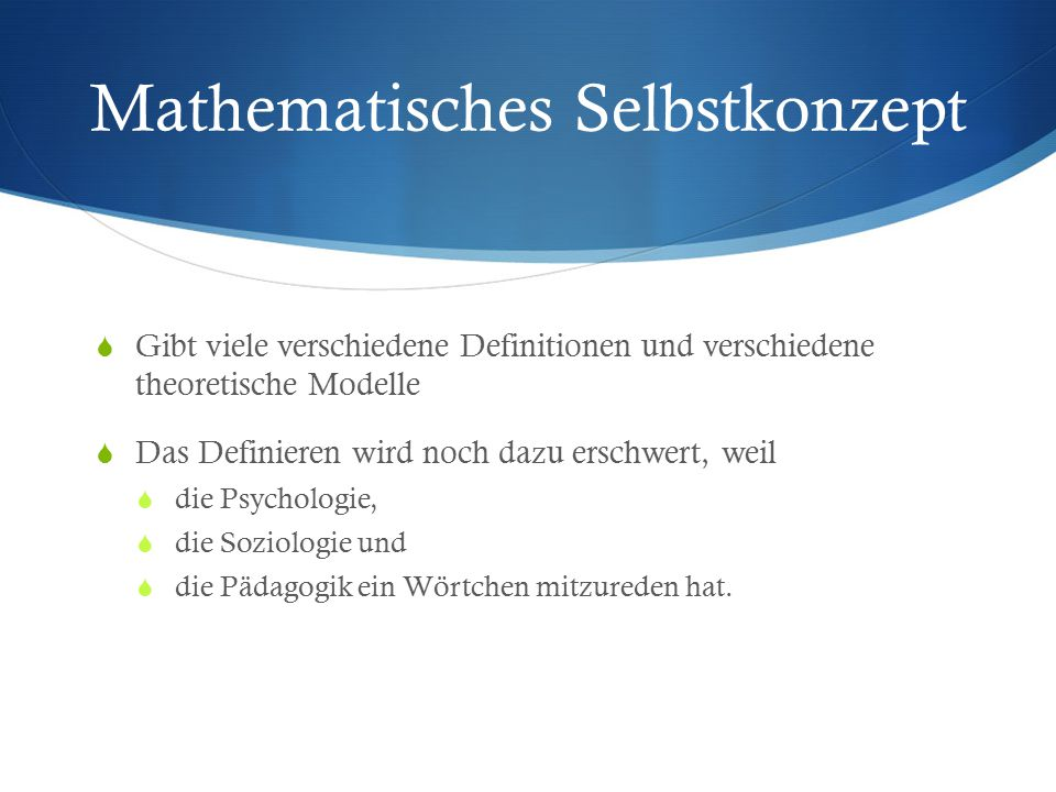 Mathematisches Selbstkonzept