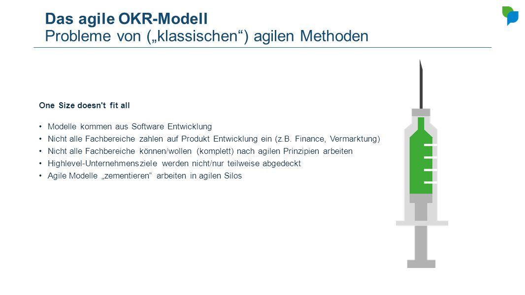 """Das agile OKR-Modell Probleme von (""""klassischen ) agilen Methoden"""