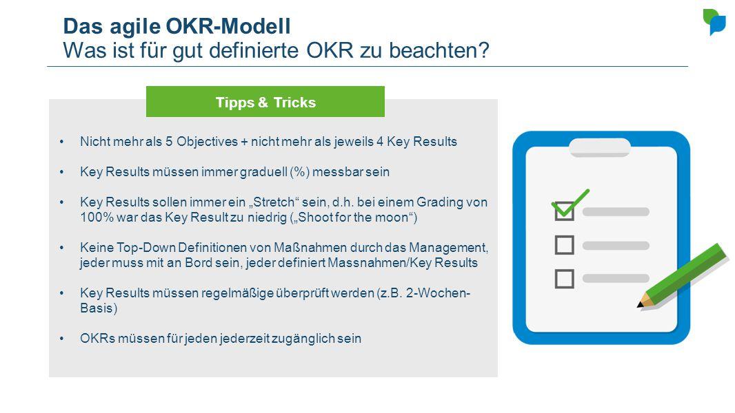 Das agile OKR-Modell Was ist für gut definierte OKR zu beachten