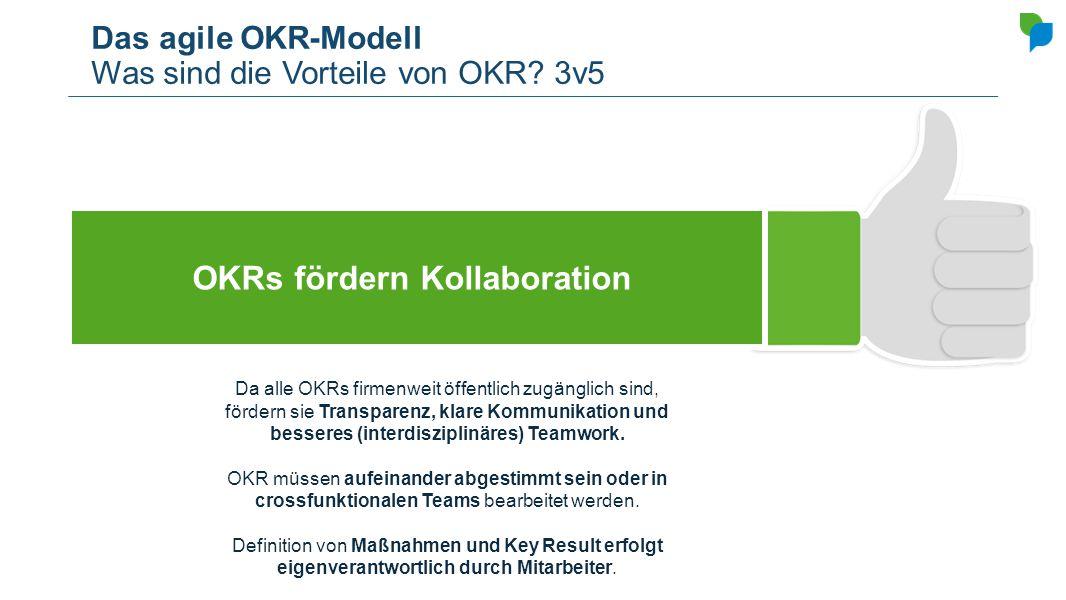 Das agile OKR-Modell Was sind die Vorteile von OKR 3v5