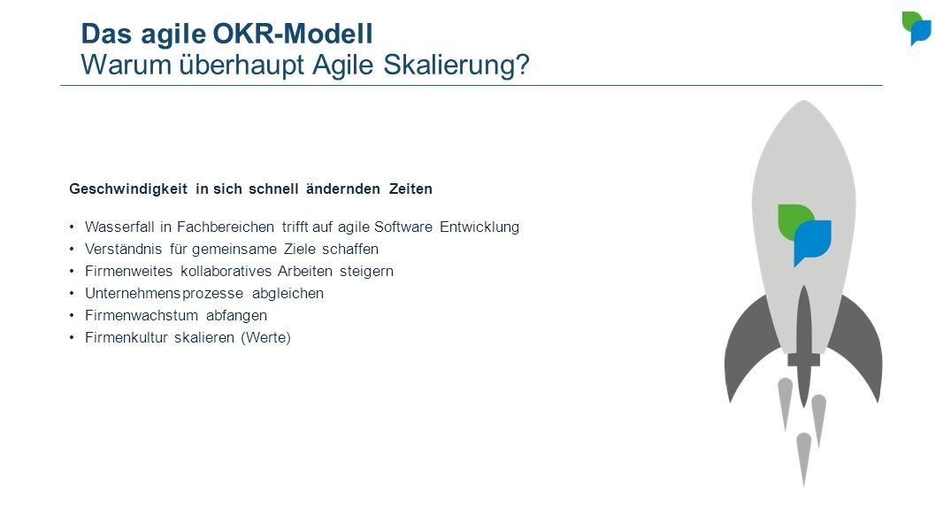 Das agile OKR-Modell Warum überhaupt Agile Skalierung
