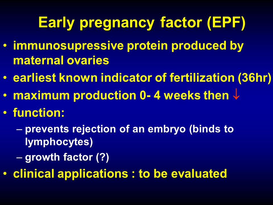 Early pregnancy factor (EPF)