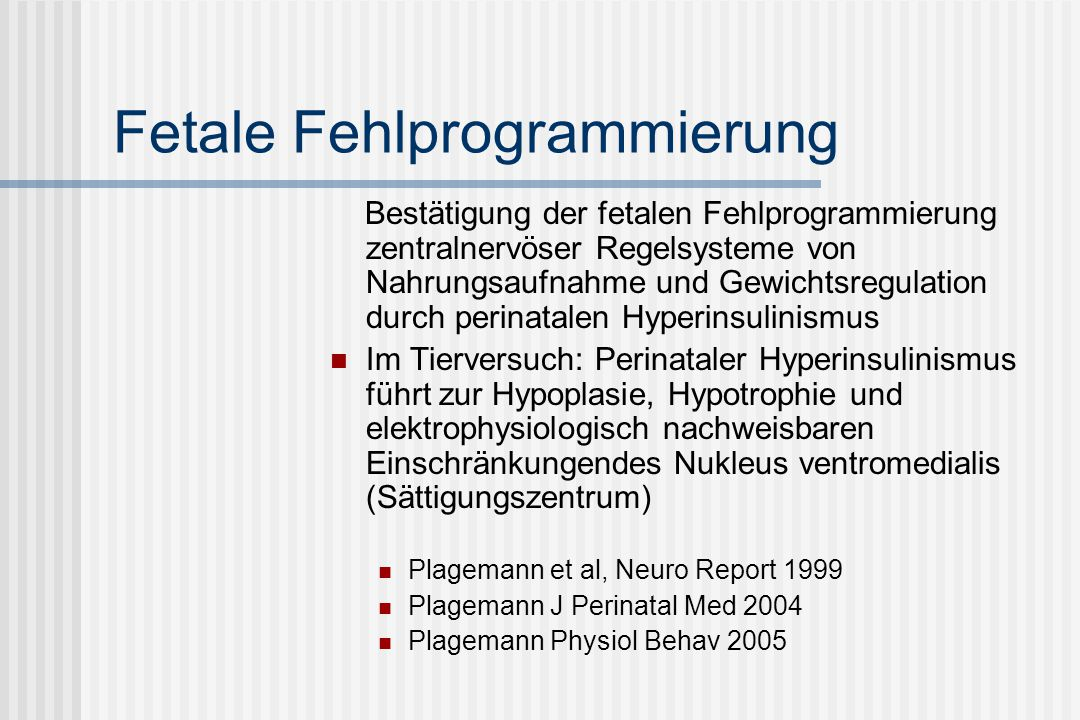 Fetale Fehlprogrammierung